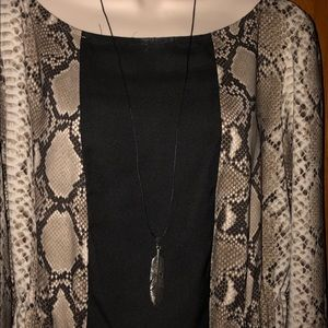 Casey Keith Design Jewelry - Long Feathered Necklace